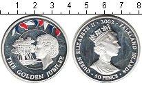 Изображение Монеты Фолклендские острова 50 пенсов 2002 Серебро Proof-