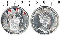 Изображение Монеты Фолклендские острова 50 пенсов 2002 Серебро Proof- Золотой юбилей