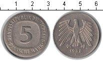 Изображение Мелочь ФРГ 5 марок 1988 Медно-никель XF