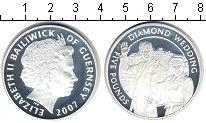 Изображение Монеты Гернси 5 фунтов 2007 Серебро Proof- Елизавета II. Брилли