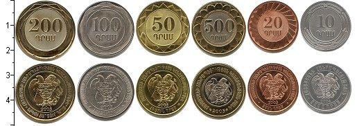 Изображение Наборы монет Армения Армения 2003-2004 2003  UNC- В наборе 6 монет ном