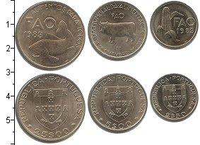 Изображение Наборы монет Португалия Португалия 1983 1983 Медно-никель UNC- В наборе 3 монеты но