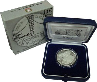 Изображение Подарочные монеты Италия 10 евро 2013 Серебро Proof `Подарочная монета `