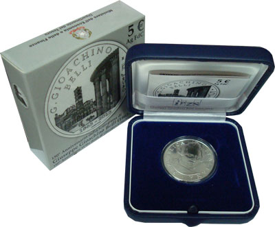 Изображение Подарочные монеты Италия Джузеппе Джоаккино Белли 2013 Серебро UNC Подарочная монета по
