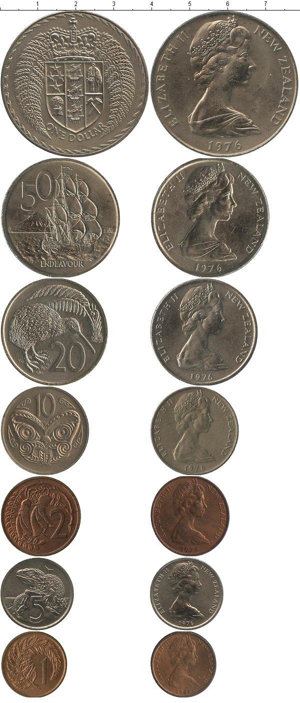 Картинка Подарочные монеты Новая Зеландия Годовой набор 1976 года  1976