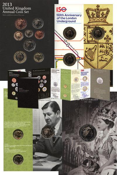 Изображение Подарочные наборы Великобритания Новые гербы 2013  UNC