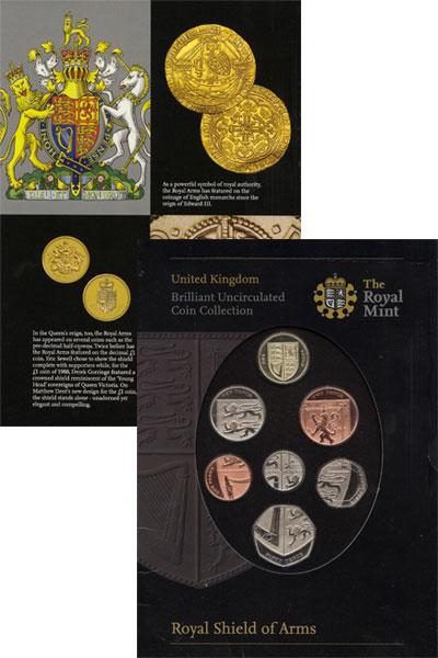 Изображение Подарочные монеты Великобритания Новые гербы 2008  UNC Подарочный набор сос