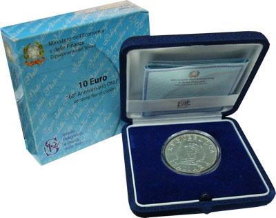 Изображение Подарочные монеты Италия 60-летие окончания Великой Отечественной Войны 2005 Серебро UNC-