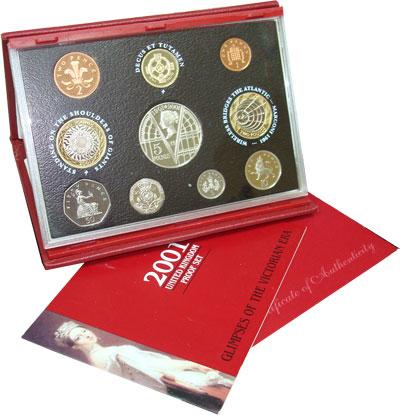 Изображение Подарочные монеты Великобритания Выпуск монет 2001 года 2001  Proof Представляем Вашему