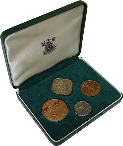 Изображение Подарочные монеты Гернси Выпуск 1966 года 1966  Proof Выпуск монет 1966 го