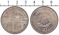 Изображение Монеты ГДР 10 марок 1974 Серебро XF 25-летие ГДР.