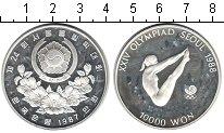 Изображение Монеты Южная Корея 10000 вон 1987 Серебро Proof- Олимпийские игры 198
