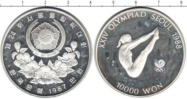 Картинка Монеты Южная Корея 10.000 вон Серебро 1987