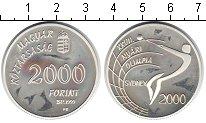 Изображение Монеты Венгрия 2000 форинтов 1999 Серебро UNC- Олимпийские игры 200