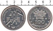 Изображение Монеты Португалия 100 эскудо 1986 Серебро UNC- FIFA Мехико 86