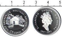 Изображение Монеты Канада 25 центов 1992 Серебро Proof- Елизавета II.Новый Б