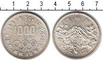 Изображение Мелочь Япония 1000 йен 1964 Серебро UNC- Олимпиада 1964 в Ток