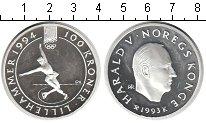 Изображение Монеты Норвегия 100 крон 1993 Серебро Proof-