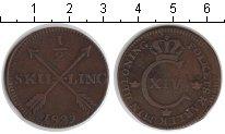 Изображение Монеты Швеция 1/2 скиллинга 1829 Медь VF