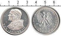 Изображение Мелочь Польша 1000 злотых 1983 Серебро XF