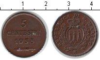 Изображение Монеты Сан-Марино 5 сентесим 1938 Медь XF