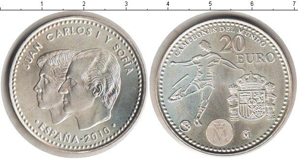 Картинка Мелочь Испания 20 евро Серебро 2010