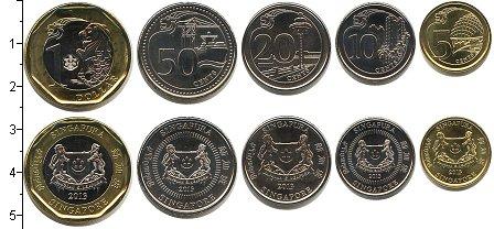 Изображение Наборы монет Сингапур Сингапур 2013 2013  UNC- В наборе 5 монет ном