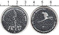 Изображение Монеты Швейцария 20 франков 2003 Серебро Proof- Чемпионат по лыжному