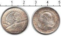 Изображение Монеты Сан-Марино 5 лир 1938 Серебро XF Девушка.