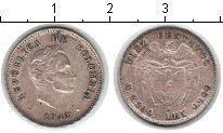 Изображение Монеты Колумбия 10 сентаво 1942 Серебро XF