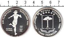 Изображение Монеты Экваториальная Гвинея 7000 франков 1992 Серебро Proof- Олимпийские игры 199
