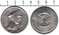 Изображение Монеты Филиппины 1 песо 1947 Серебро XF Генерал Дуглас Мак А