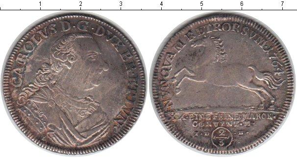 Картинка Монеты Брауншвайг-Люнебург 2/3 талера Серебро 1764