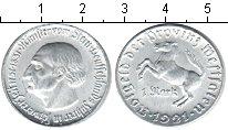 Изображение Монеты Вестфалия 1 марка 1921 Алюминий XF Фон Штейн.