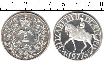 Изображение Монеты Великобритания 25 пенсов 1977 Серебро Proof- Елизавета II. Серебр
