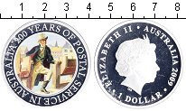 Изображение Монеты Австралия 1 доллар 2009 Серебро Proof- Елизавета II.