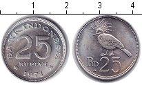 Изображение Мелочь Индонезия 25 рупий 1971 Медно-никель UNC- птица