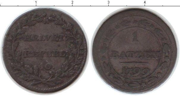 Картинка Монеты Швейцария 1 батзен Серебро 1799