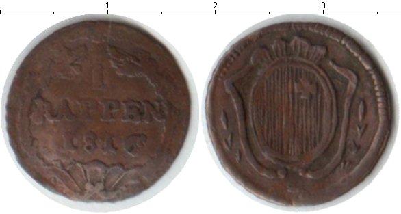 Картинка Монеты Швейцария 1 рапп Медь 1816