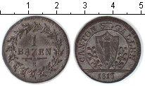 Изображение Монеты Сант-Галлен 1 батзен 1813 Серебро XF
