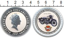 Изображение Монеты Острова Кука 2 доллара 2007 Серебро Proof- Известные мотоциклы