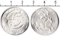 Изображение Монеты Италия 10.000 лир 1995 Серебро UNC-