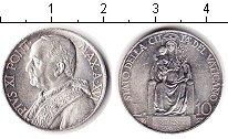 Изображение Монеты Ватикан 10 лир 1937 Серебро XF Пий ХI