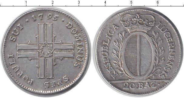 Картинка Монеты Люцерн 20 батзен Серебро 1795