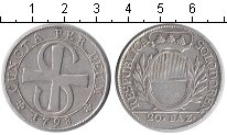 Изображение Монеты Швейцария 20 батзен 1798 Серебро XF