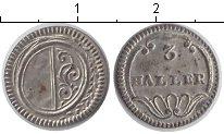 Изображение Монеты Швейцария 3 геллера 0 Серебро UNC- ND. Кантон Цюрих