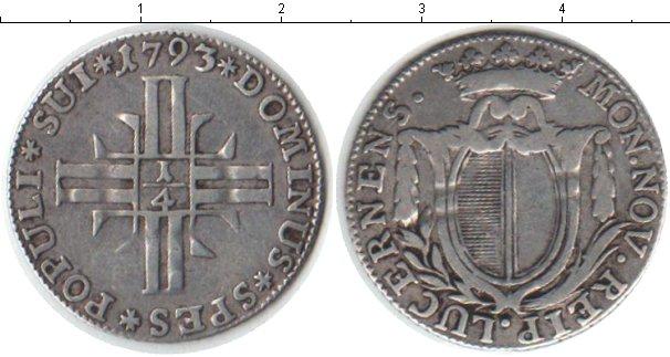 Картинка Монеты Швейцария 1/4 гульдена Серебро 1793