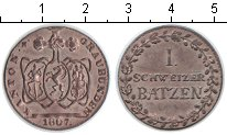 Изображение Монеты Швейцария 1 батзен 1807 Серебро XF Кантон Граубюнден