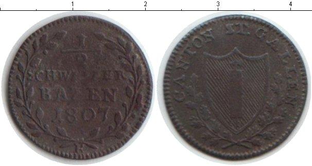 Картинка Монеты Сант-Галлен 1/2 батзена Медь 1807