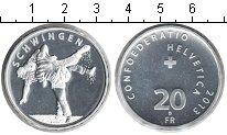 Изображение Мелочь Швейцария 20 франков 2013 Серебро UNC борьба